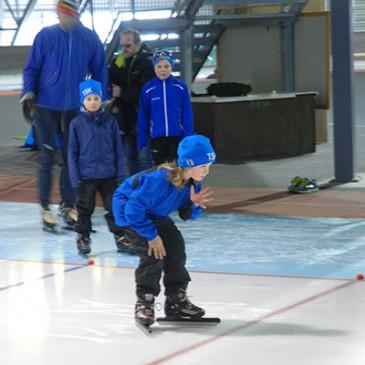 Rekrutter: Trening på isen fra 3.november.
